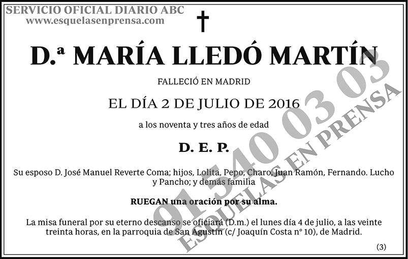 María Lledó Martín